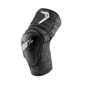 100% FORTIS KNEE GUARD GREY HEATHER/BLACK