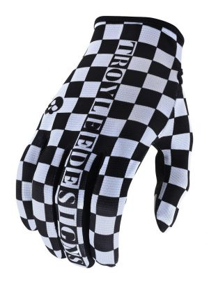 Rukavice TLD Flowline - Checkers White/Black