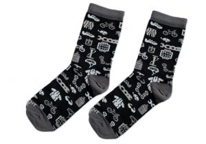 Černobílé ponožky - Bike