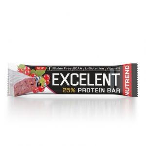 Proteínová tyčinka Nutrend Excellent 85g - Čierne ríbezle s brusnicami v jogurtovej poleve