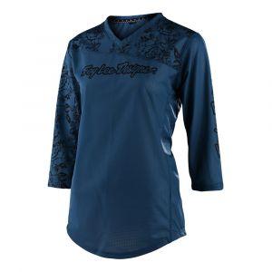 Dámský dres na bicykel TLD MISCHIEF Floral Blue