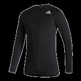 Funkční Triko Adidas Techfit Compression Dlhý Rukáv - Black