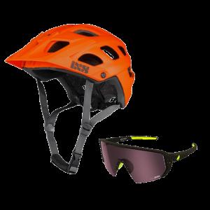 iXS prilba Trail EVO + okuliare Melon